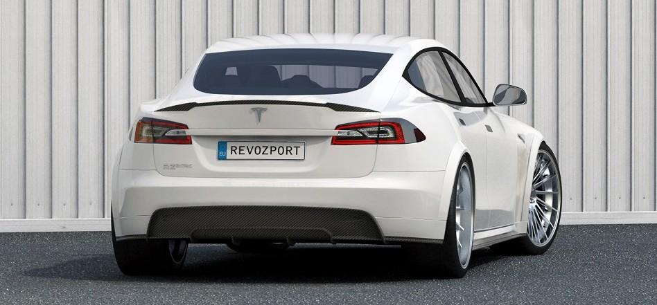 RevoZport Carbon Fiber Widebody Tesla Rear