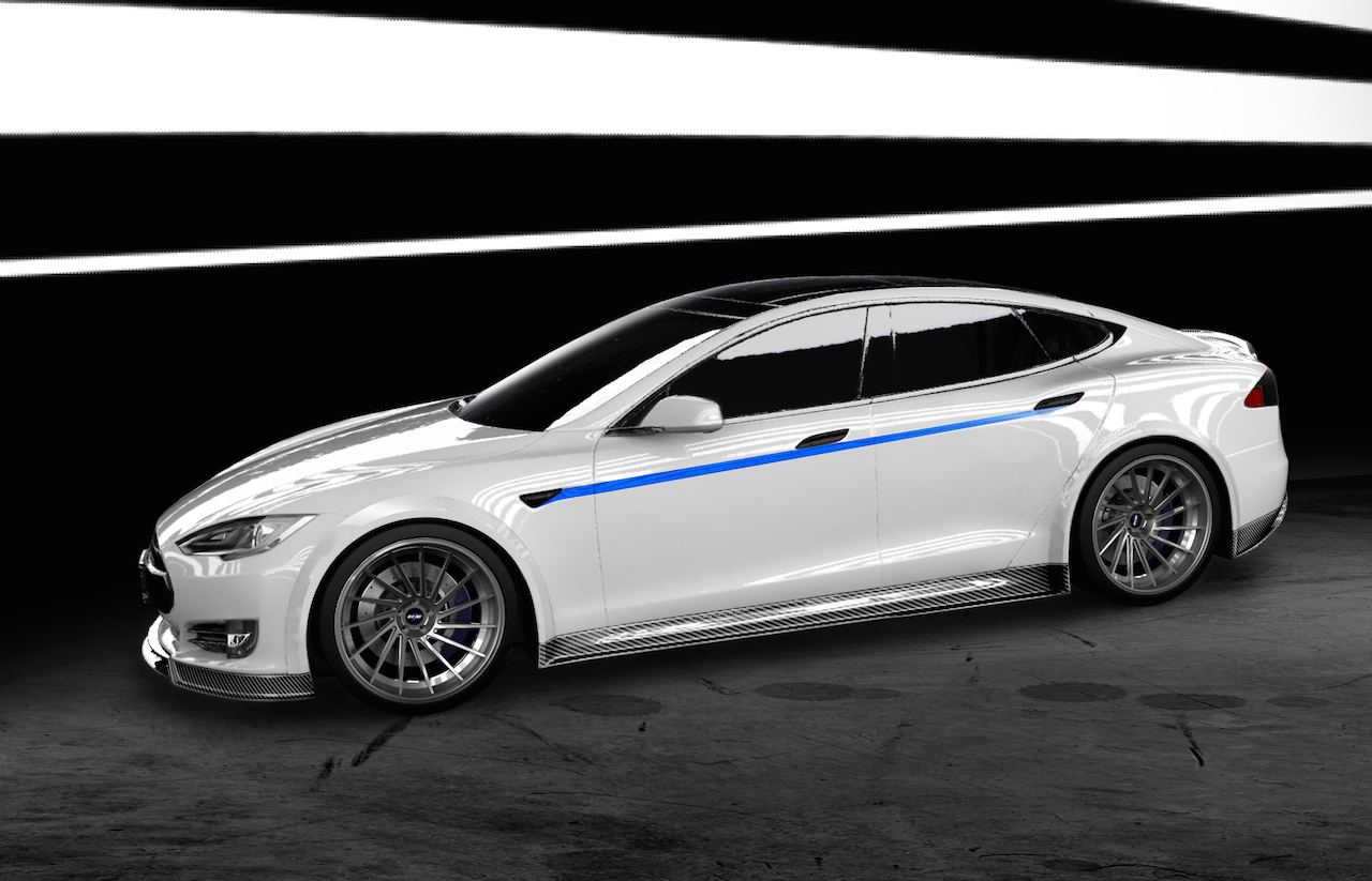 RevoZport-Tesla-Carbon-Fiber-Body-Kit-Side