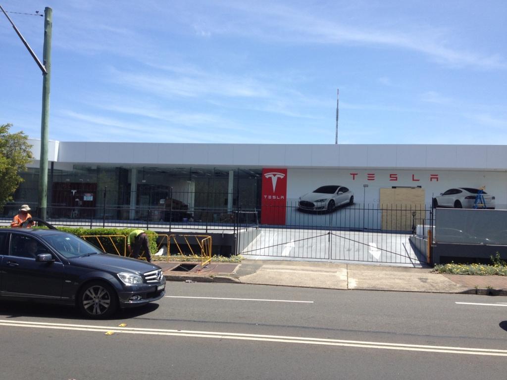 Tesla Sydney Australia Store