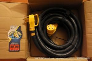 Tesla-UMC-Camco-50amp-Cord-Box