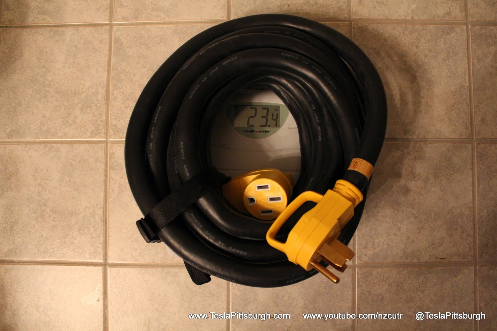 Tesla Umc Extension Cord Via Camco 50 Amp 30 Powergrip Since You Are Dealing With Wire And Depending If It Is A Short 50amp Weight