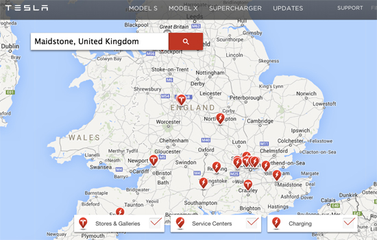 Supercharging stations in the UK are finding their groove. (Source: TM)