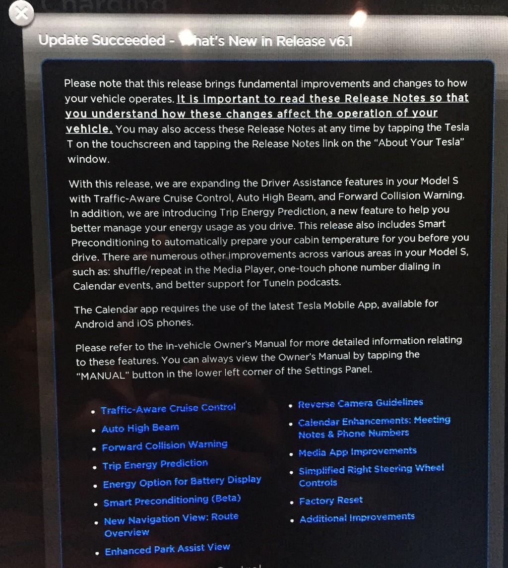 Tesla-Firmware-6-1-Update