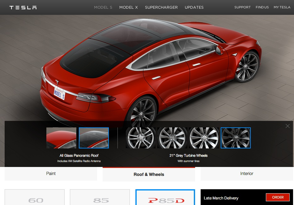 Tesla Model S Options