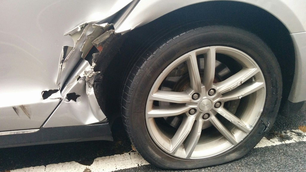 A minor accident turned into a major repair headache for this New York based Tesla owner.