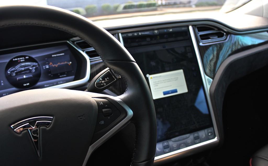 Tesla Model S Voice Commands Button