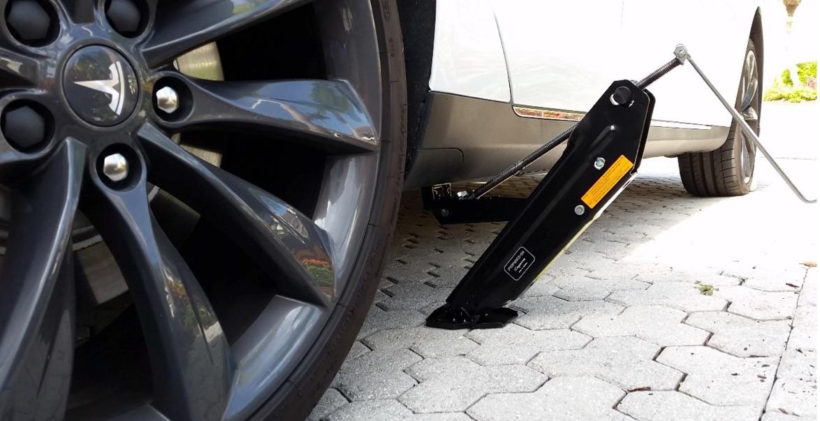Repairing A Flat Tire On A Tesla Model S