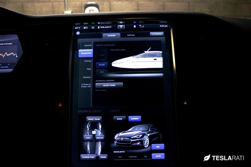Tesla Model S James Bond Easter Egg Submarine Car