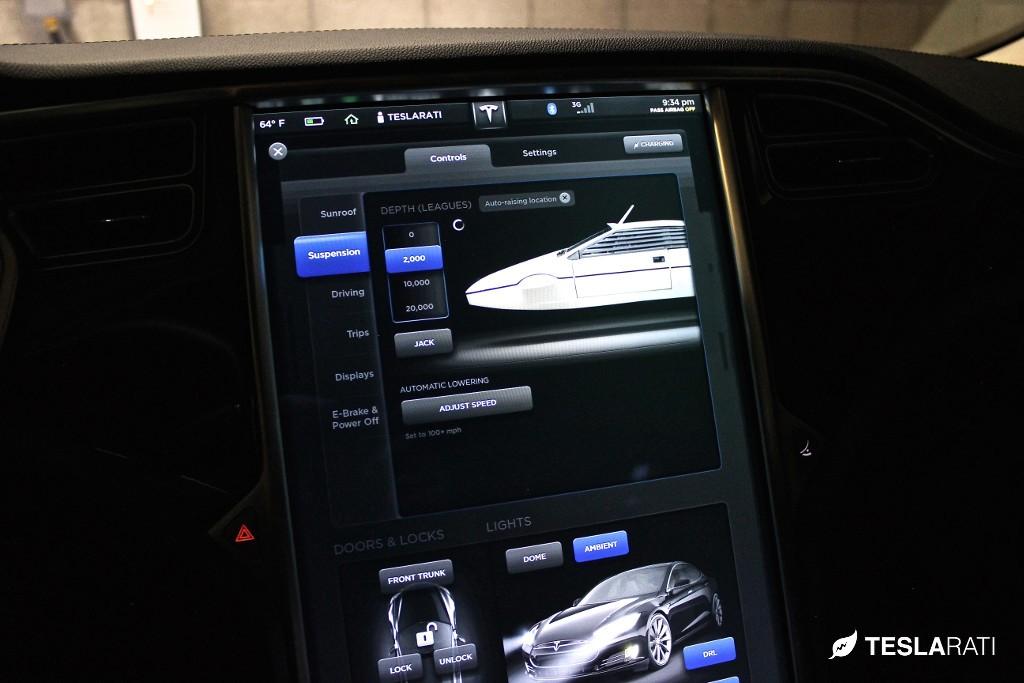 Tesla Model S James Bond Easter Egg Submarine Car Dives 20,000 Leagues