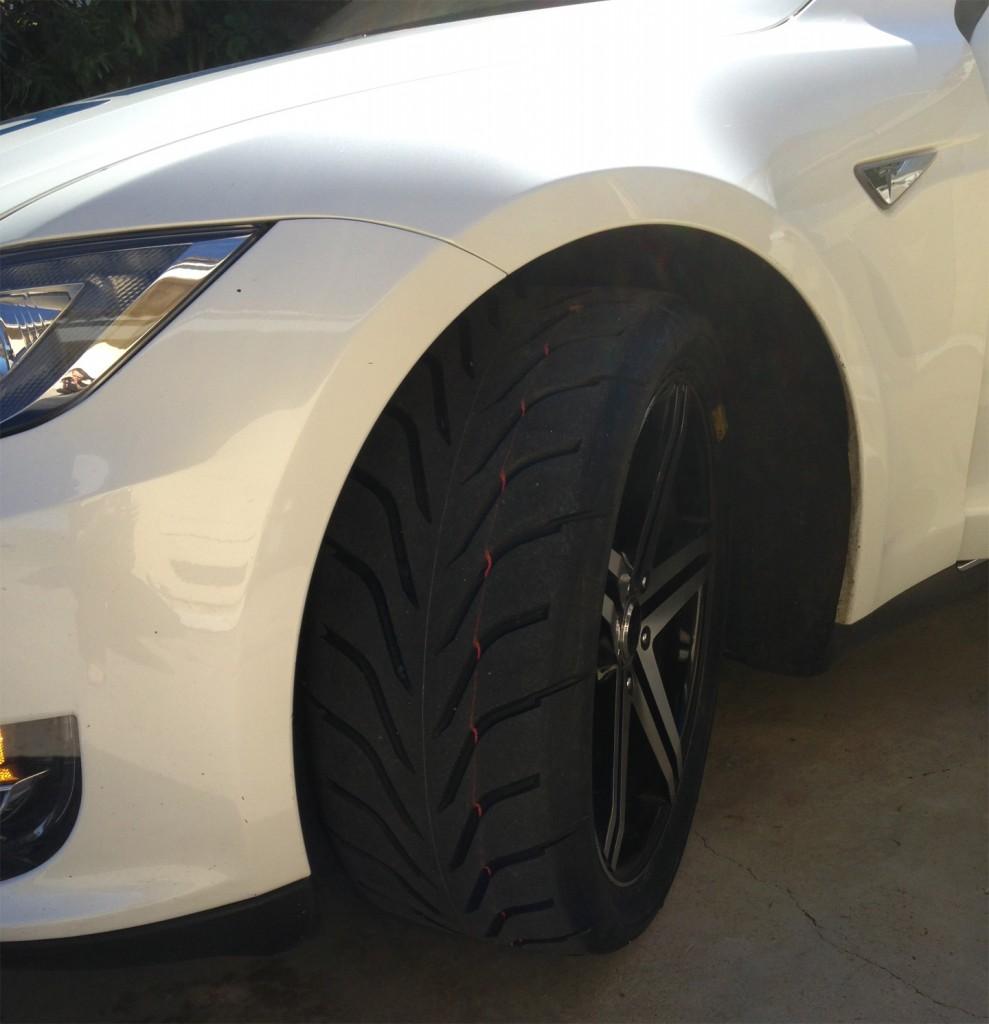 Tesla Model S Toyo R888 Racing Tires