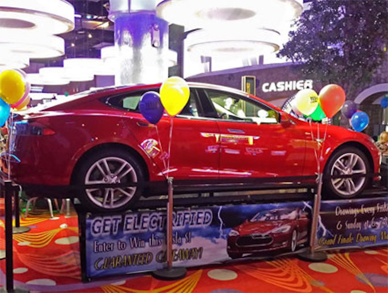 Tesla Guaranteed Giveaway Contest at Siena Hotel Spa & Casino