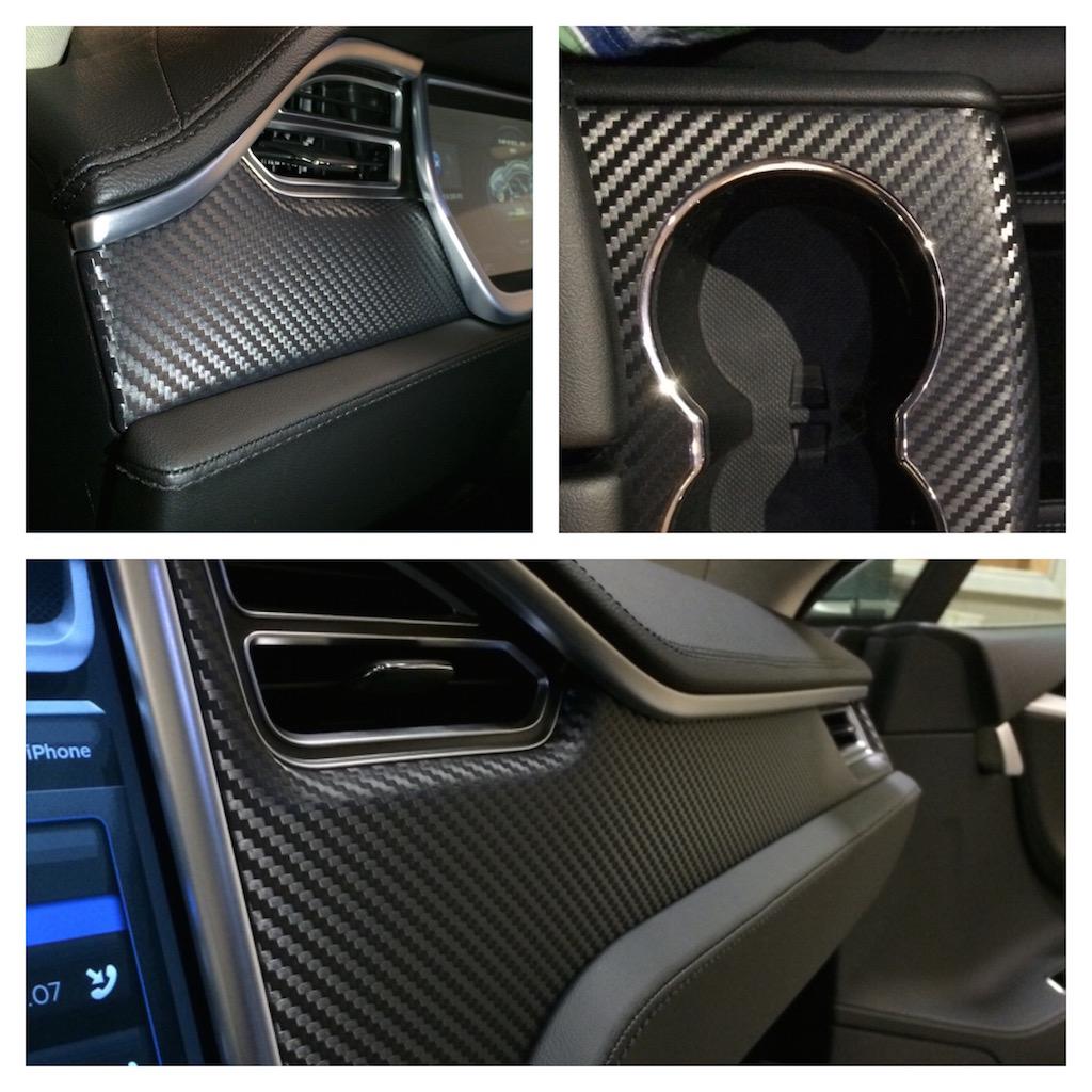 how to add a carbon fiber interior trim to the model s