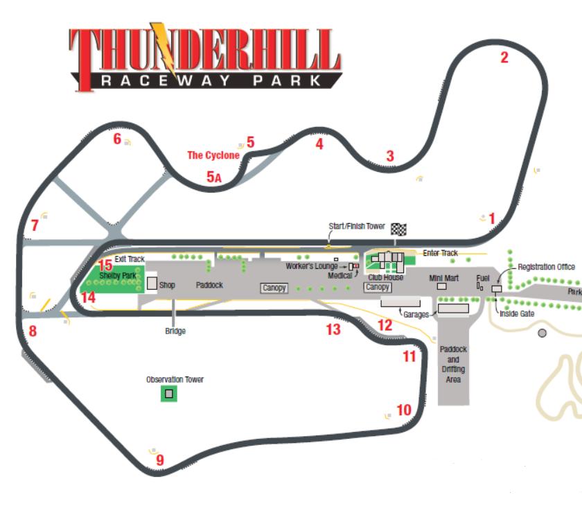 Thunderhill Track Map