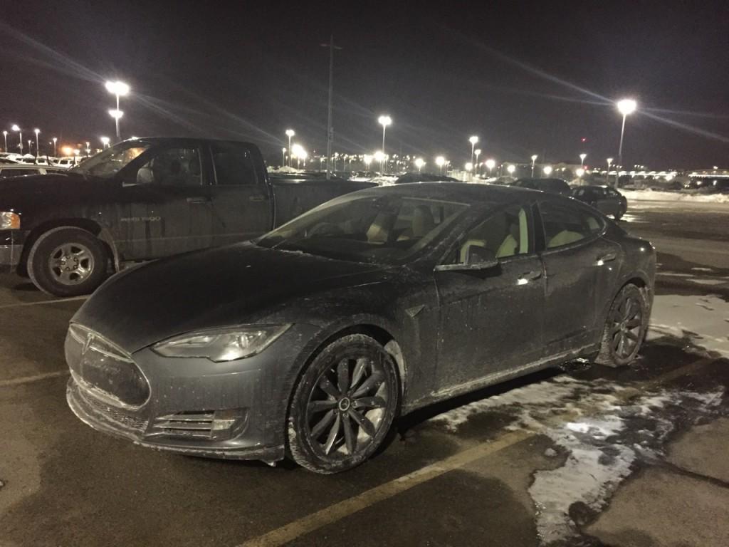 Tesla Model S Long Term Parking at Airport