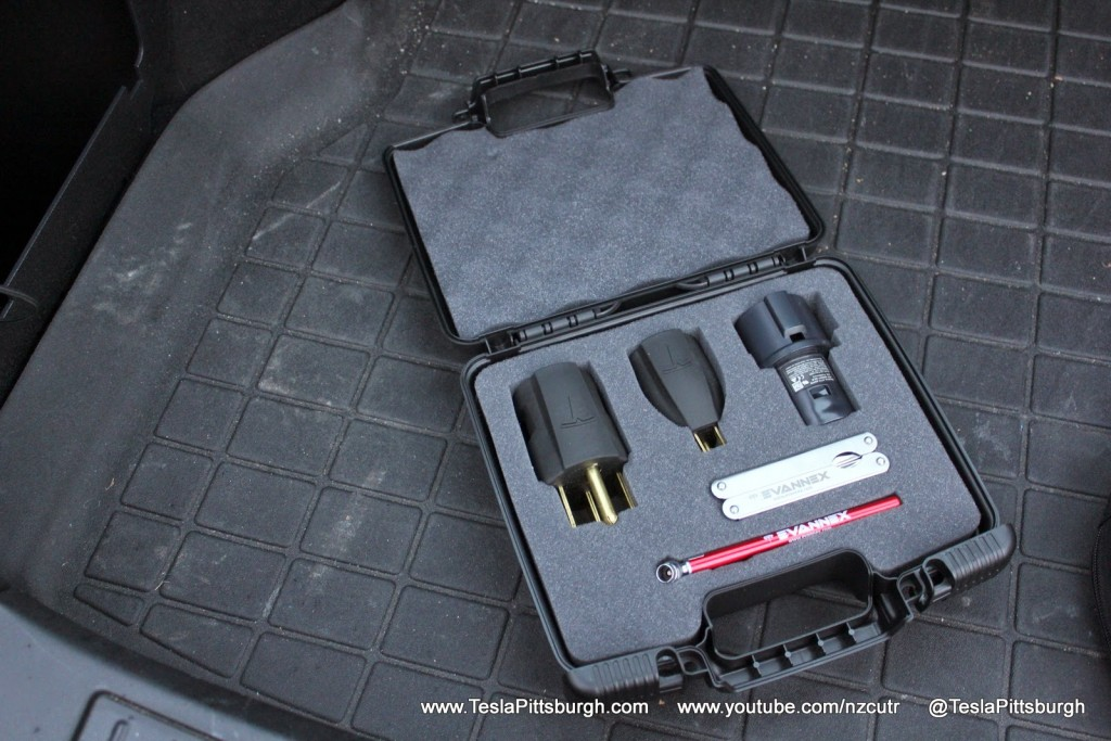 EVannex Model S Adaptable Storage Kit with Charger Plugs (not included)