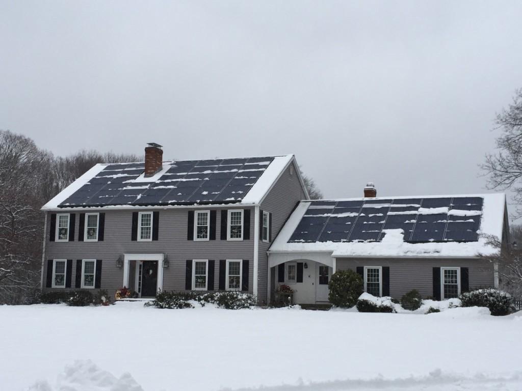 Snow on panels