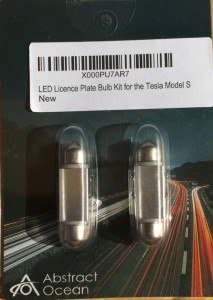 LED License Plate Bulb Kit for the Tesla Model S