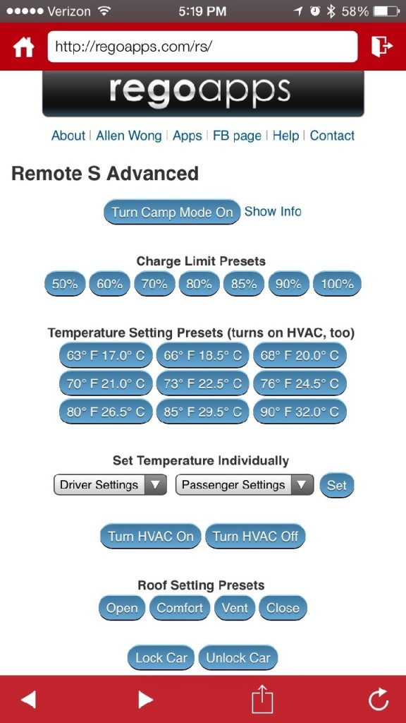 Remote S Advanced Settings
