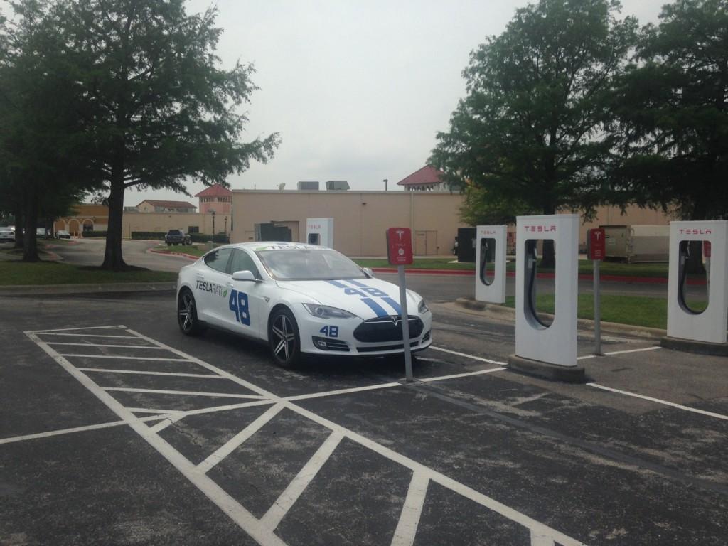 Teslarati 48 charging at Tesla Supercharger San Marcos, TX