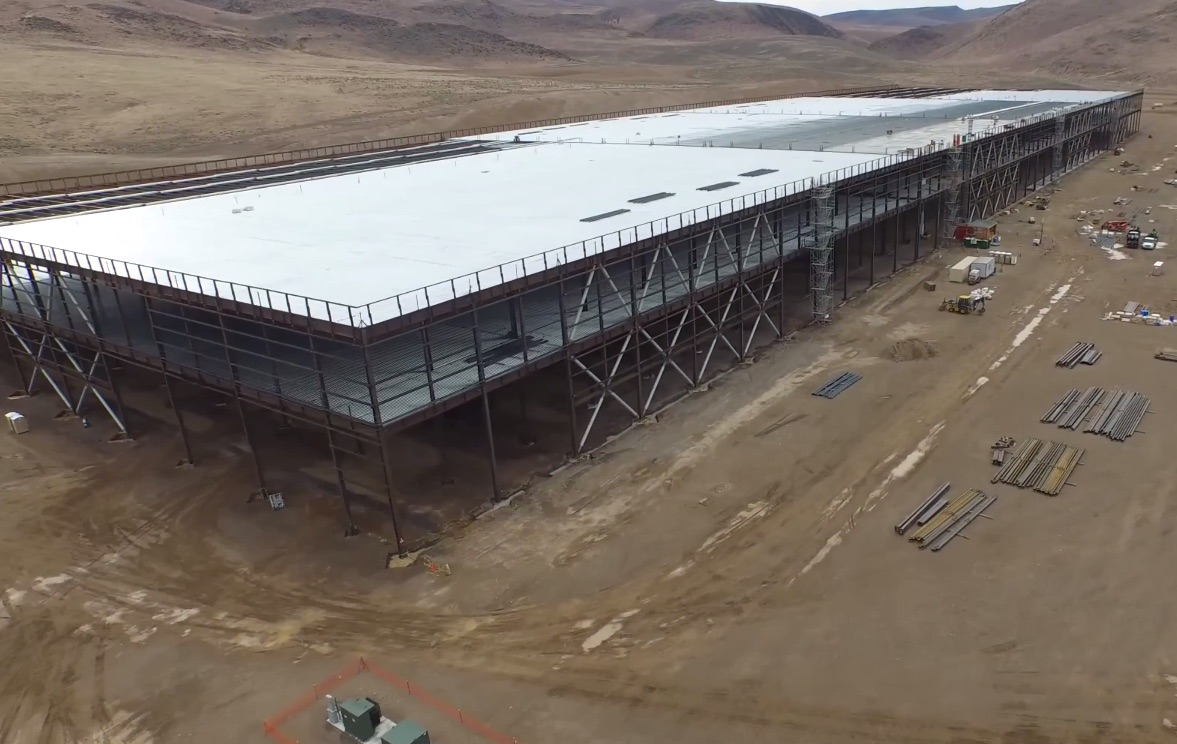 drone flyover captures tesla gigafactory in stunning detail