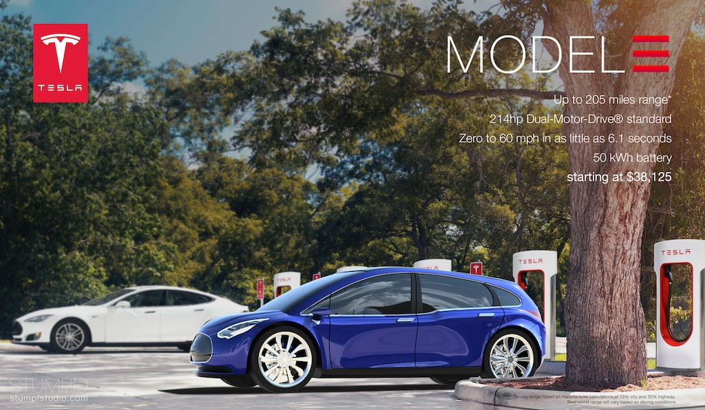 Tesla Model 3 concept car from Stumpf