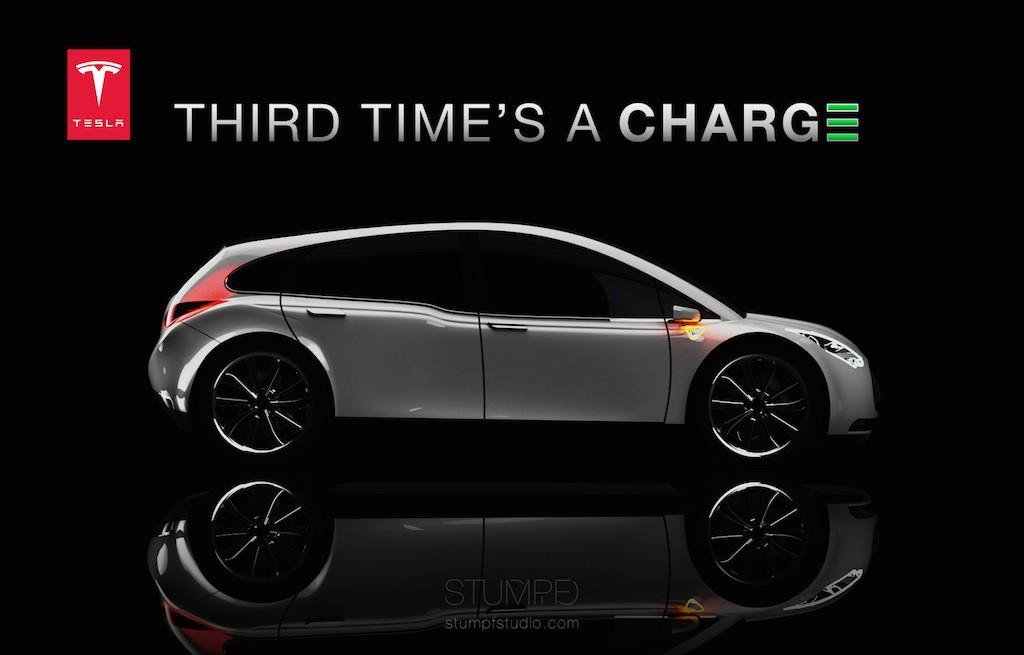 Tesla Model 3 design concept by Stumpf Studio