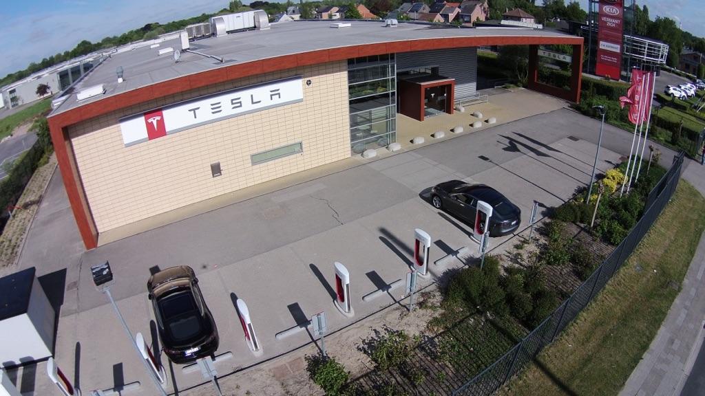 Tesla Supercharger in Antwerp-Aartselaar, Belgium