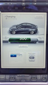 Tesla screen Charging