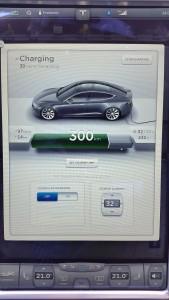 Tesla screen Charging