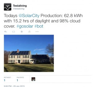 Automated Solar Tweets