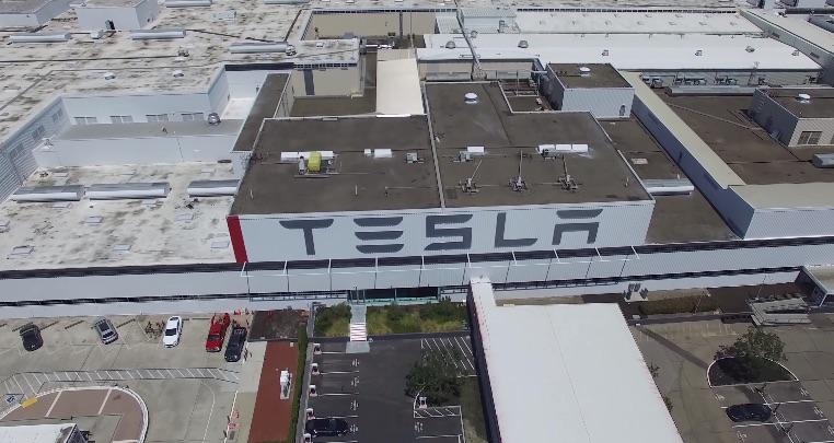 Tesla-Fremont-Factory-Drone