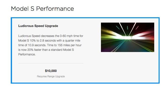 Tesla Ludicrous Speed upgrade