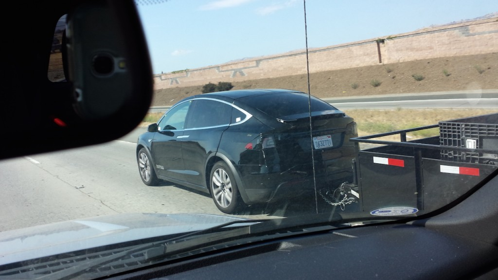 Model X hauling freight with Class III hitch