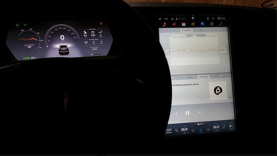 Video of Tesla Firmware 7.0 (Screen capture)