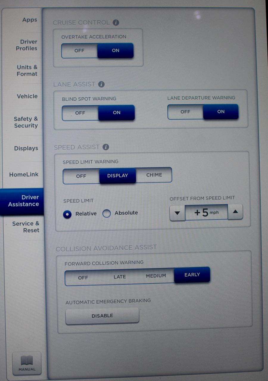 Autopilot settings