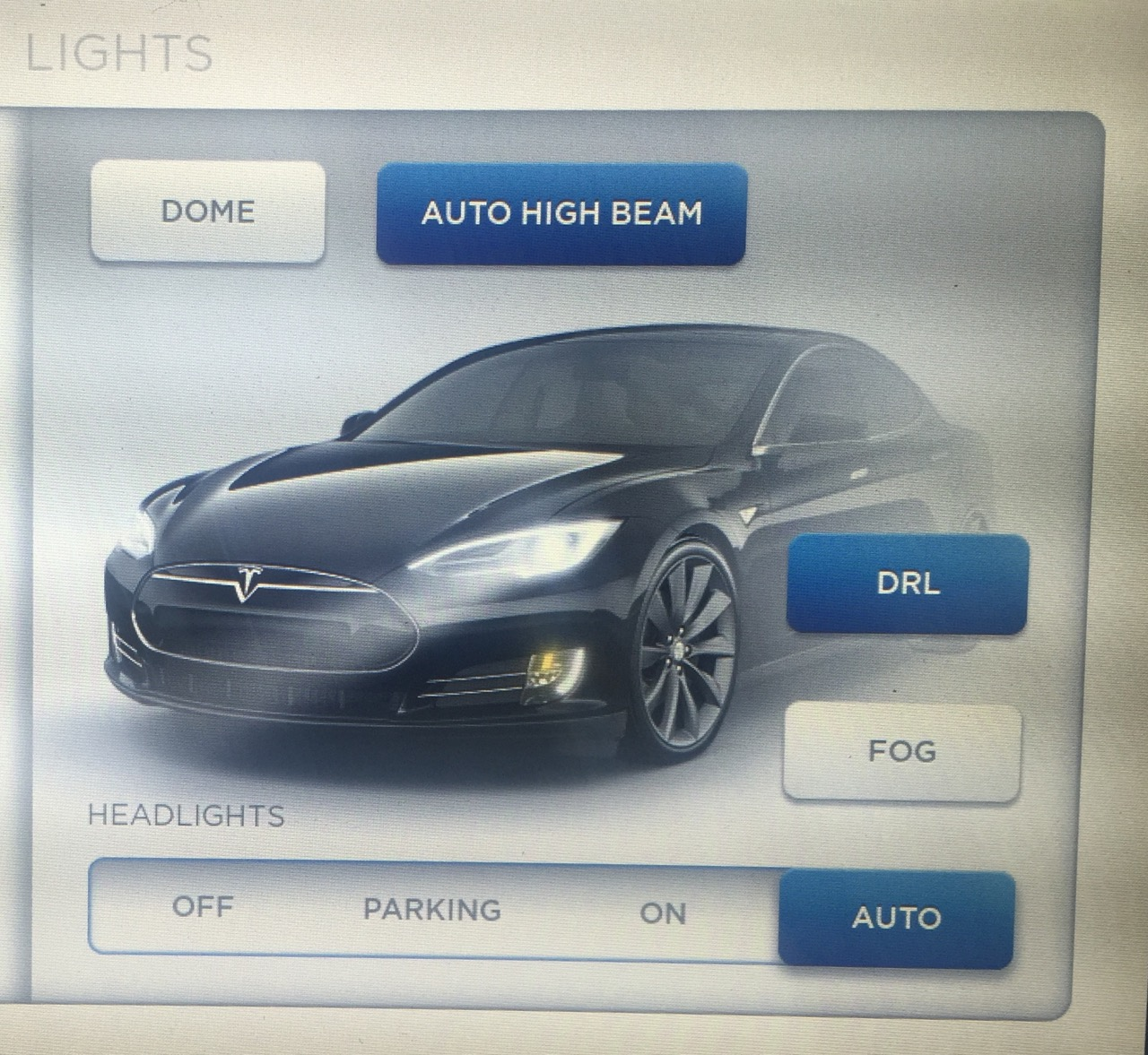 Auto High Beam Controls