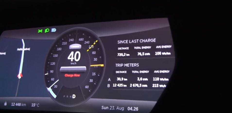 Tesla P85D sets mileage record