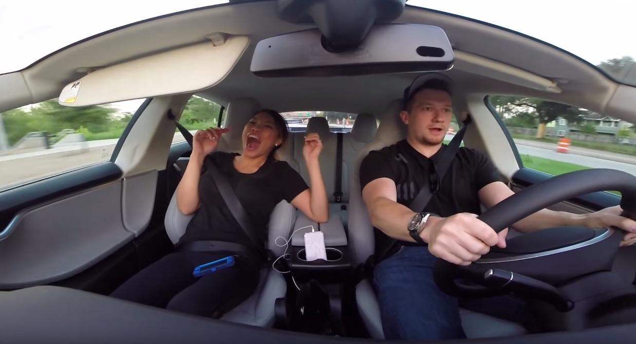 Tesla Model S P90D Ludicrous Model Launch Reactions