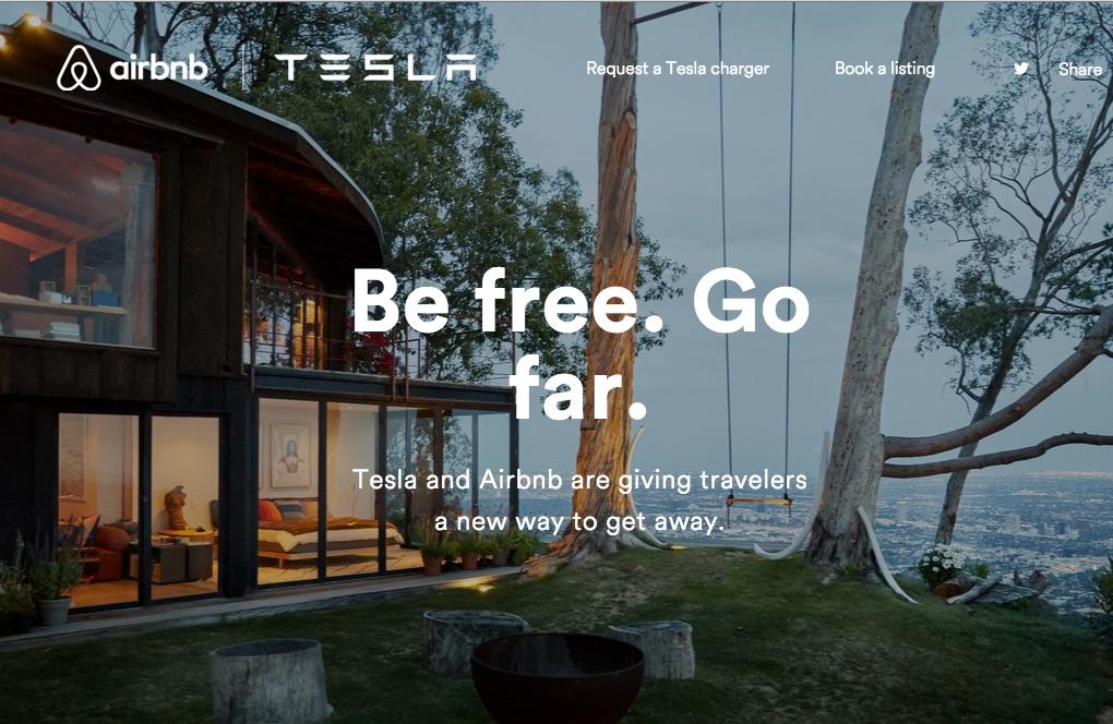 Tesla-AirBNB-partnership