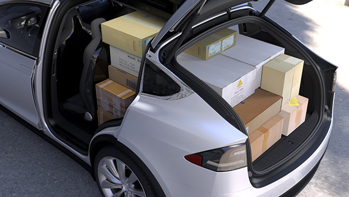 Model X cargo carrying arrangements