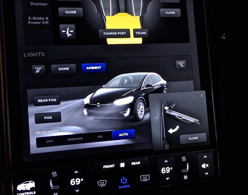 Tesla Model X Firmware 7.0 Controls