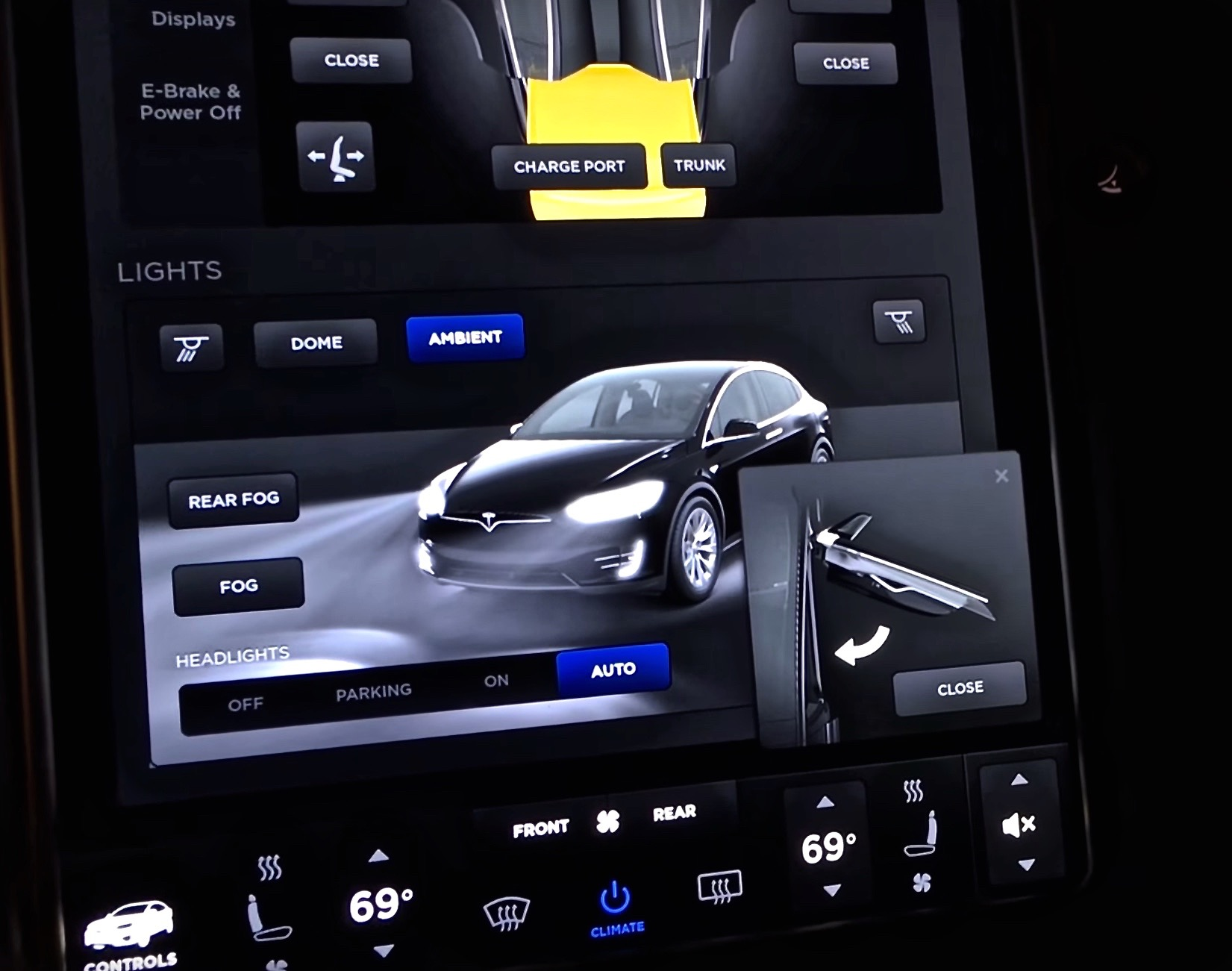 Tesla Model X Firmware 7.0 Controls