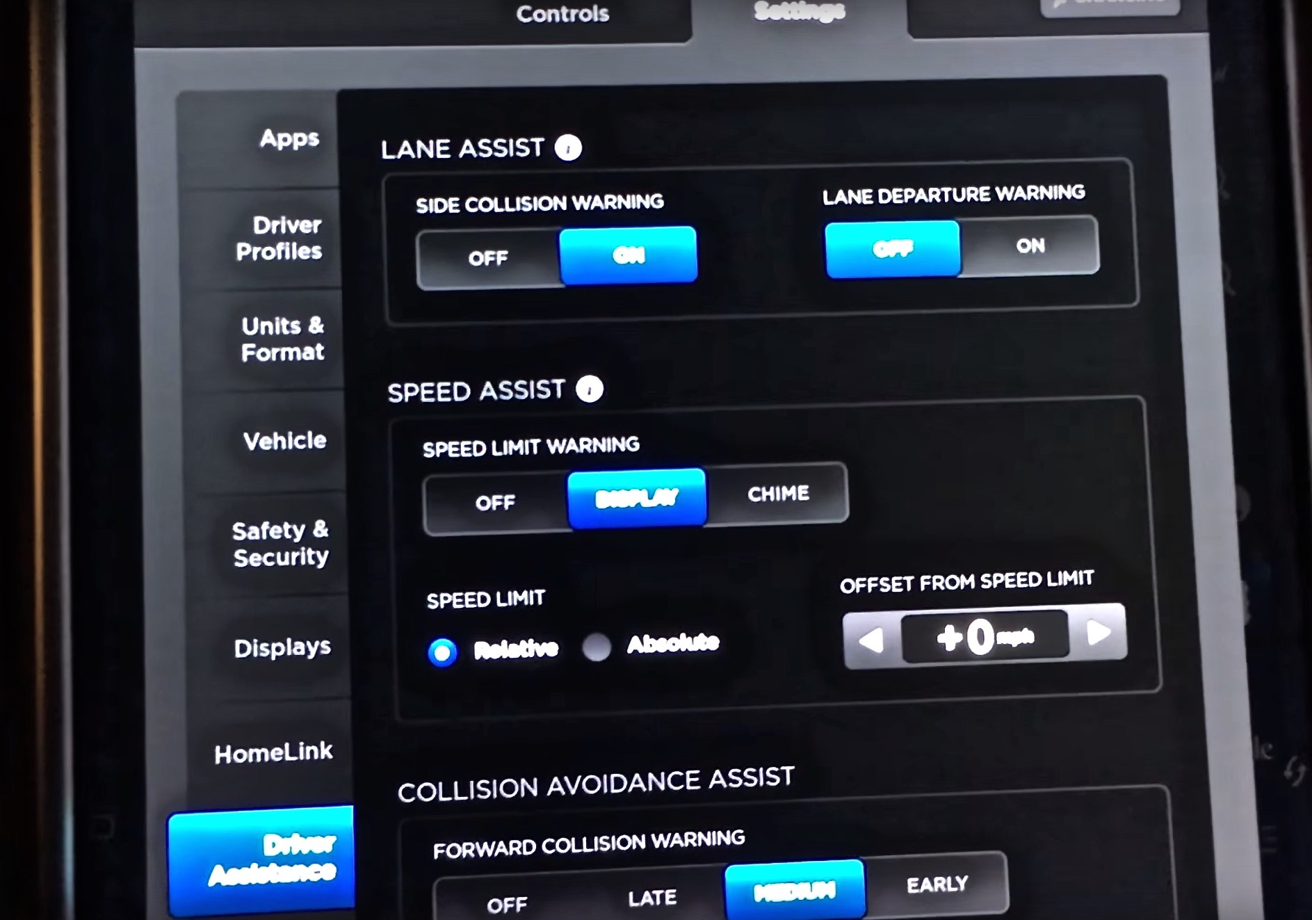 Model-X-Firmware-7-Driver-Assistance-Settings