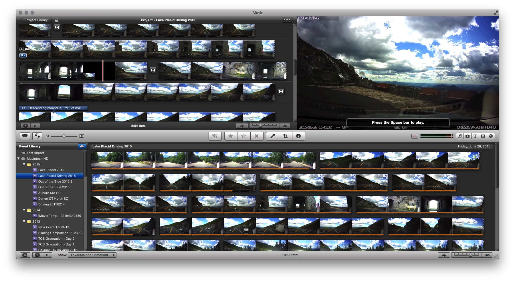 Dash cam video editing