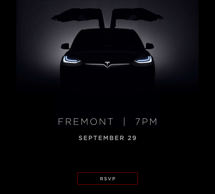 Tesla Sends Invitations To Model X Launch Event Sept 29