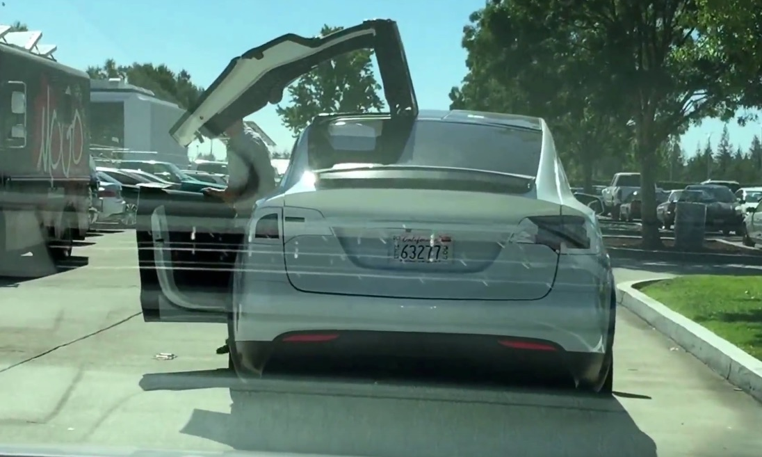 Tesla Model X Falcon Doors Caught on Video