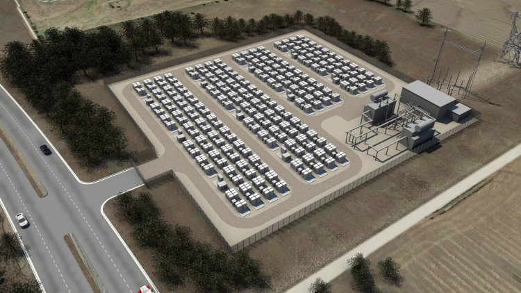 Grid scale electricity storage concept via Tesla Energy