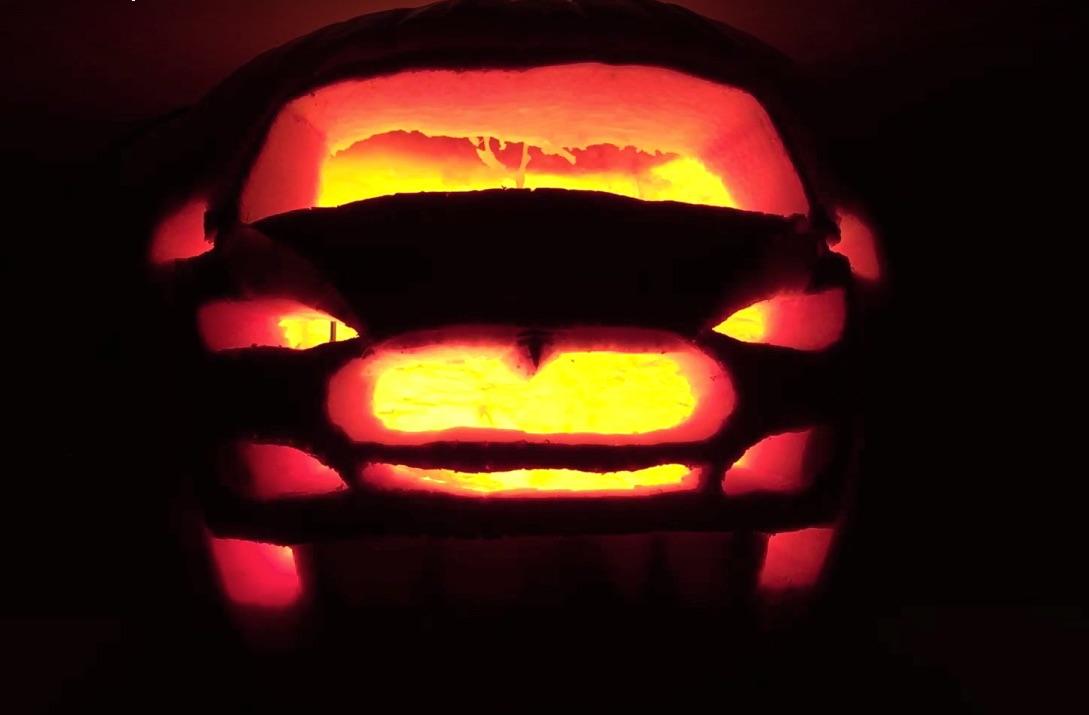 Halloween-Model-S-Pumpkin
