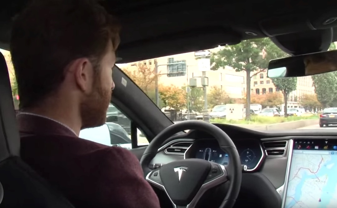 Tesla Model S with Autopilot in NYC