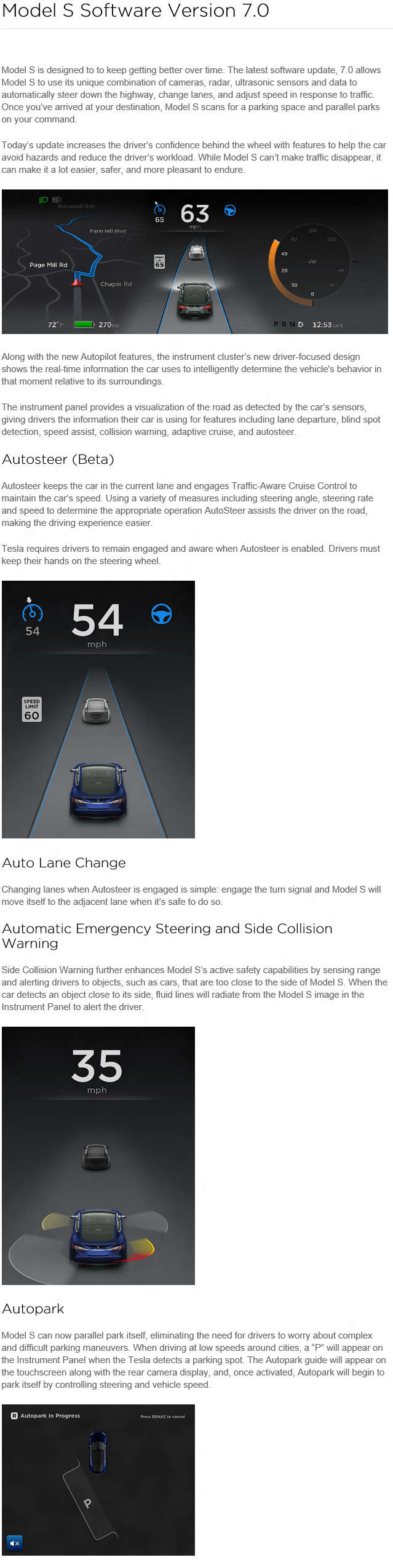 Tesla Model S Version 7.0 Release Notes